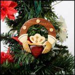 Wooden Claddagh Ornament