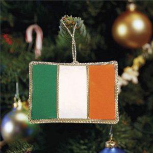 Flag Ornament: Irish Tri-Color