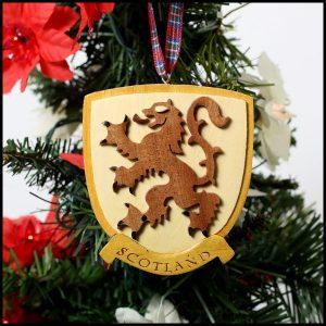 Wooden Lion Rampant Ornament