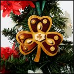 Wooden Shamrock Ornament