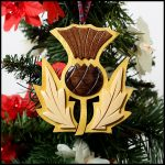 Wooden Thistle Ornament