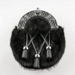 Dress Sporran - Black Rabbit, Criss Cross, Celtic Cantle