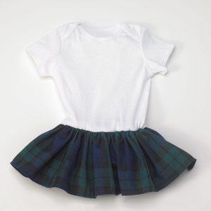 Baby Girl's Kilted Onesie - Black Watch Tartan