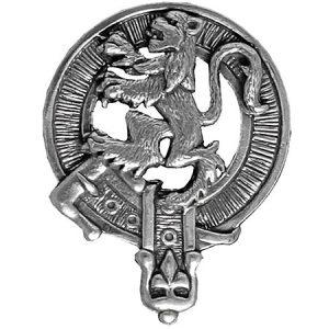 Lion Rampant Cap Badge