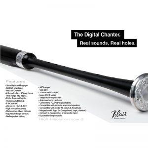 Blair Digital Chanter with Case & Cut-Off Pedal - Plain Mounts
