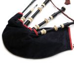 Bagpipe Bag Cover with Zipper & Non-Slip Patch BLACK BAG