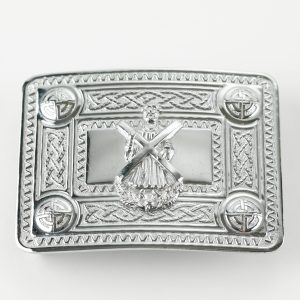 Buckle - Celtic Knot & St. Andrew - Chrome Finish